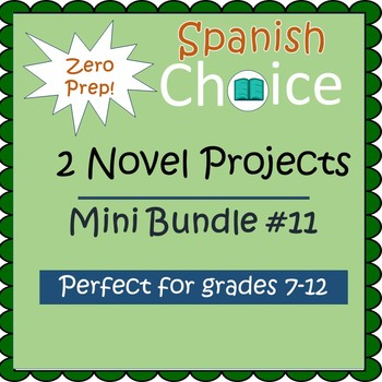 Zero Prep Spanish Novel Projects - Mini Bundle #11