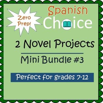 Zero Prep Spanish Novel Projects - Mini Bundle #3