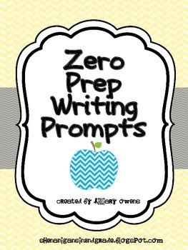 {Zero Prep} Writing Prompts