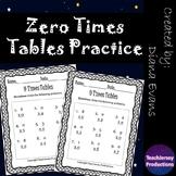 Zero Times Tables Practice