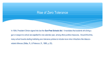 Zero Tolerance Policy Presentation