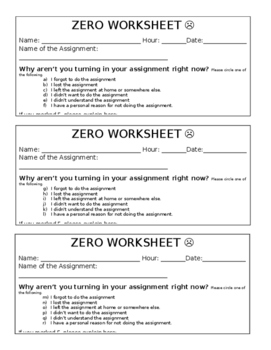 Zero Worksheet #2 (updated)