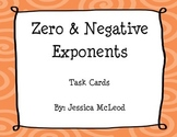 Zero and Negative Exponent Task Cards