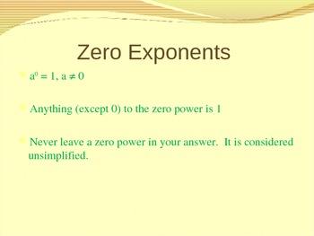 Zero and Negative Exponents