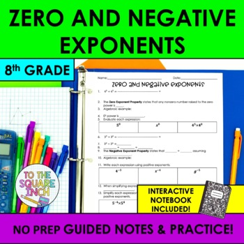 Zero And Negative Exponents Teaching Resources Teachers Pay Teachers