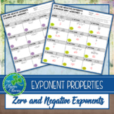 Exponent Properties - Zero and Negative Exponents