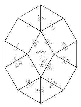 Zero and Negative Exponents Tarsia Puzzle