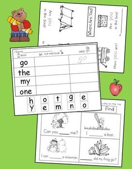 Sight Words for Kindergarten Bundle   *Great Value*