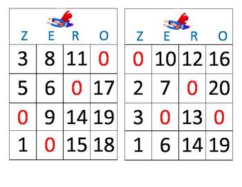Zero the Hero Bingo