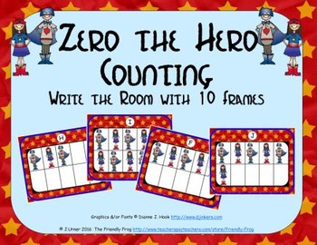 Zero the Hero Counting with Ten Frames {Subitizing}