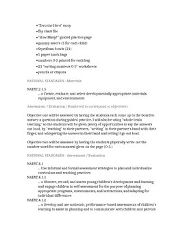 Zero the Hero Kindergarten Math Lesson Plan (CCSS aligned)