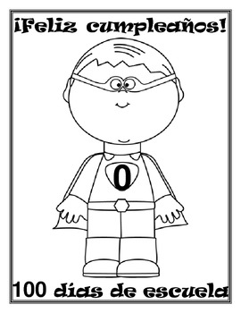 Zero the Hero SPANISH (Letters for every 10 days & Coloring Pages)