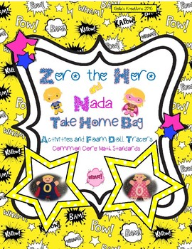Zero the Hero and Nada Take Home Book and Foam Doll Tracers