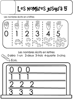 Zero to Five worksheets