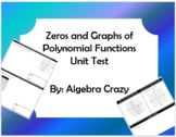 Zeros and Graphs of Polynomial Functions Test