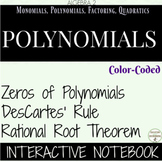 Zeros of Polynomials Des Cartes Rule Rational Root Theorem Notebook for Alg 2
