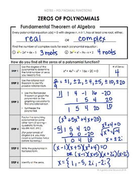 Zeros of Polynomials Lesson