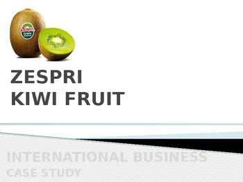 zespri case study analysis