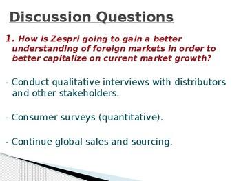 Zespri - Case Study (International Business)