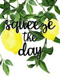 Zesty Lemon Poster **FREEBIE**