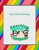 Zeus Close Reading - Greek Mythology