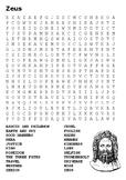 Zeus Greek Gods Word Search