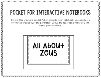 Zeus - Greek Mythology Biography Research Project - Interactive Notebook