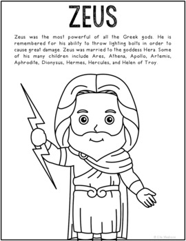 greek mythogy coloring pages - photo#26