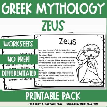 Zeus- Myths