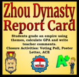Zhou Dynasty Report Card Activity - Differentiated Reading