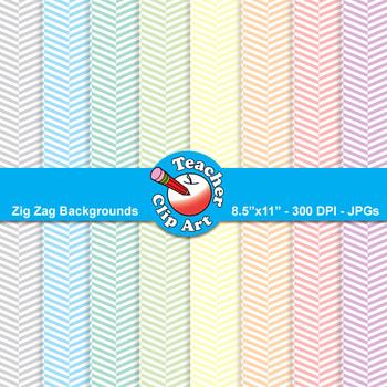 Zig Zag Backgrounds — Pastel Colors (9 Backgrounds)