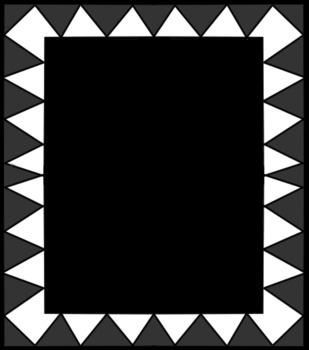 Zig Zag Burst Frame Sample FREEBIE