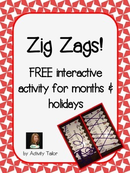 Zig Zag FREEBIE for Months and Holidays