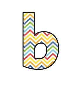 Zig Zag Lettering (upper/lowercase, cursive, numbers, shapes, symbols)
