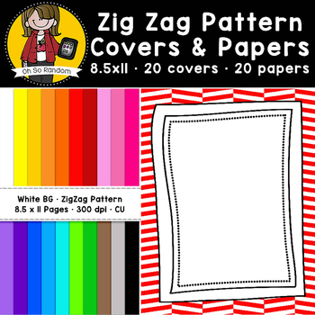 Zig Zag Pattern Covers & Papers (CU)