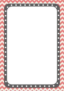 Zig Zag & Polka Dot borders / frames