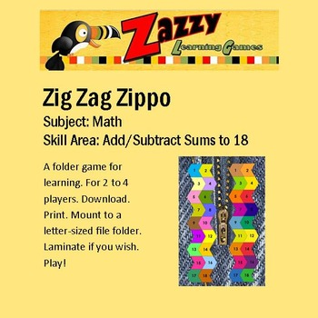 Zig Zag Zippo Addition / Subtraction Review
