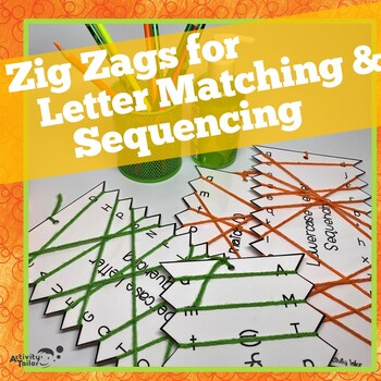 Zig Zags FREEBIE for Upper and Lowercase Letter Matching and Sequencing