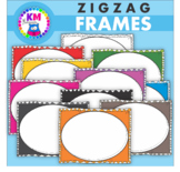 Borders And Frames - ZigZag Doodle - Clip Art