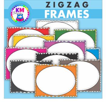 Borders And Frames - ZigZag Doodle - Clip Art