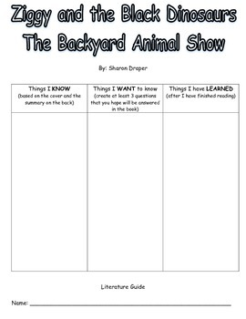 Ziggy and the Black Dinosaurs The Backyard Animal Show