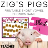 Zig's Pigs! A Short /i/ Vowel Practice Game {Meets Common Core}