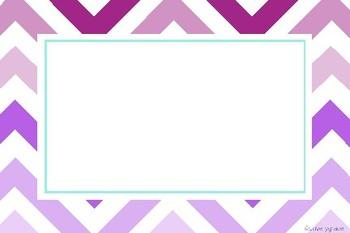 Zigzag Classroom Label