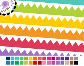 Zigzag Digital Ribbon Borders
