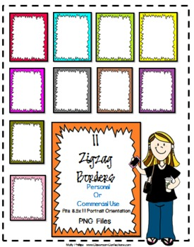 Zigzag Doodle Borders {Personal or Commercial Use}