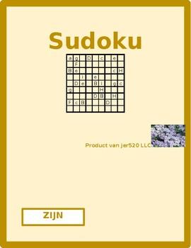 Zijn Dutch Verb Present Tense Sudoku