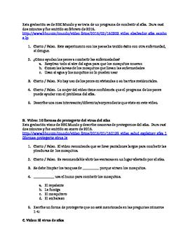 Zika virus mini unit: upper level Spanish