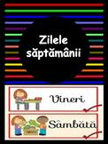 Zilele saptamanii -  limba romana