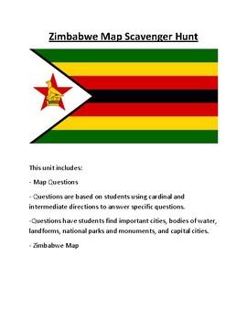 Zimbabwe Map Scavenger Hunt