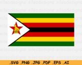 Zimbabwe National Flag, Zimbabwean Country Banner Cricut, SVG EPS AI PNG JPG PDF